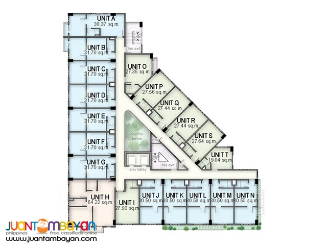1BR 31.70 SQM. MADISON PLACE CUBAO NEAR EDSA CAMP CRAME