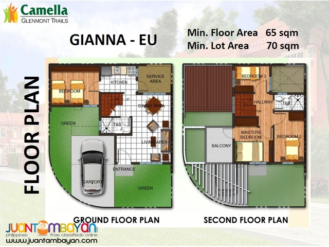3BR TOWNHOUSE CAMELLA GLENMONT TRAILS OLD SAUYO QUEZON CITY