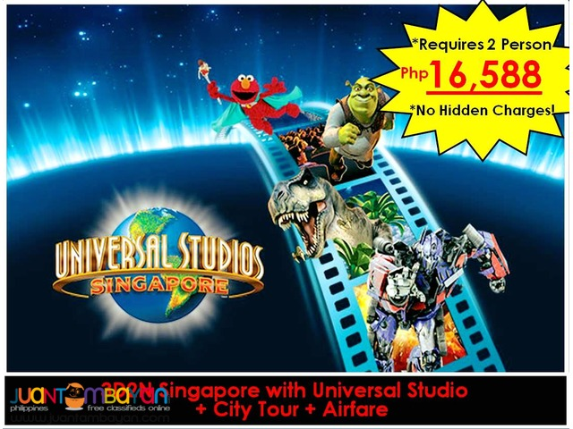 3D2N Singapore + City Tour + Universal + Airfare