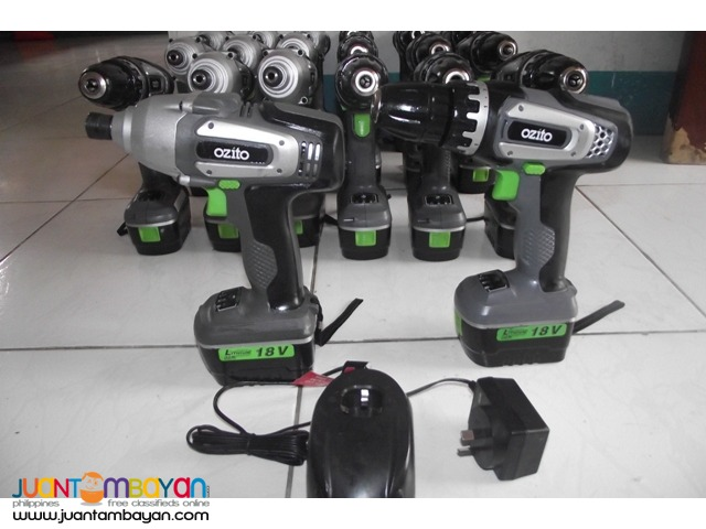 hammer drill and impack wreanch 18v surplus australia