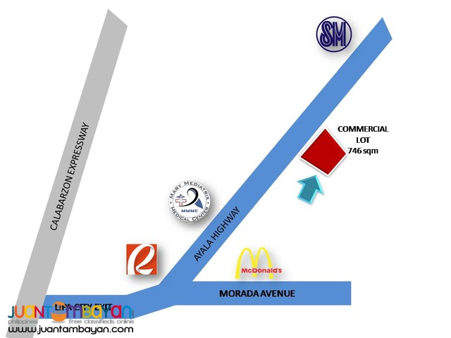 COMMERCIAL LOT FOR LONG TERM LEASE AYALA HIGHWAY LIPA CITY BATANGAS