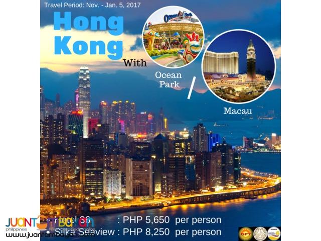 3D2N Hong Kong with Ocean Park or Macau