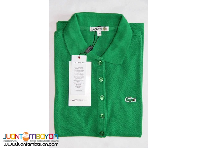 LACOSTE 5 BUTTONS MONOTONE FOR WOMEN - LADIES POLO SHIRT