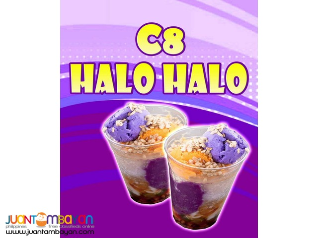 c8 halo halo,scrambol,chipstix fries,shake jam, albertus chicken