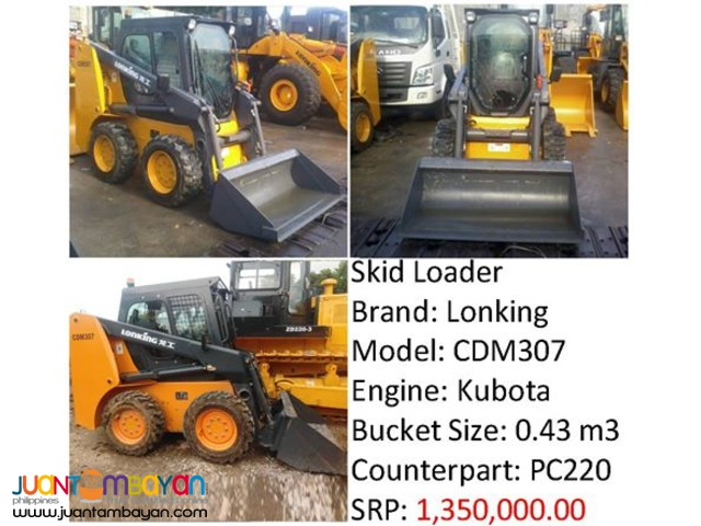 CDM307 Skid Loader (Kubota Engine for sale