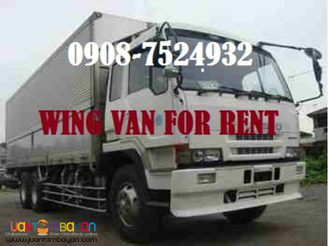 Ten wheeler truck  drop side open wing van lipat bahay for rent