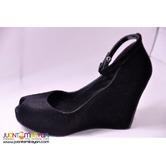 Melissa Black Wedge Shoes