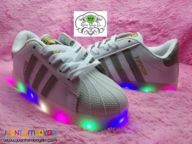 ADIDAS SUPERSTAR SHOES FOR KIDS - SHOES WITH LED LIGHTS