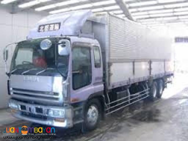 10 wheeler truck wing van for rent