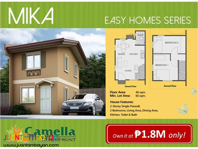 1.9M single house camella riverfront pit os cebu city