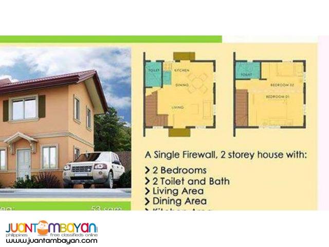 bella 2br single house riverfront camella pit os cebu city