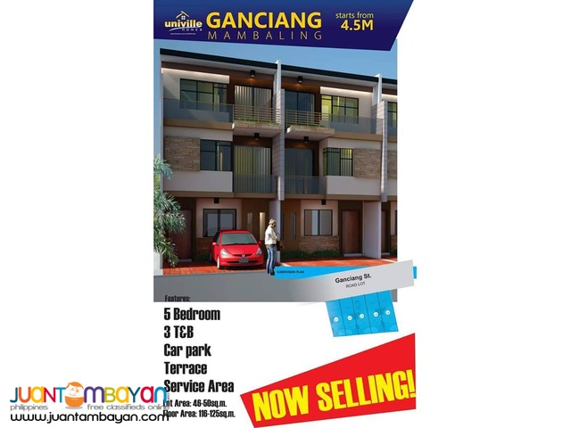 4-5 bedroom spacious townhouse Ganciang Mambaling Cebu City