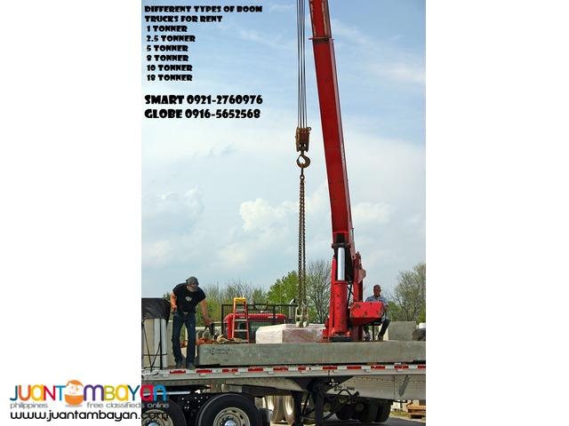 boom truck for rent/10 wheeler wing van rental