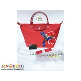 LONGCHAMP HANDBAG WITH SLING - LONGCHAMP ORIGINAL BAG - RED