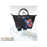 LONGCHAMP HANDBAG WITH SLING - LONGCHAMP ORIGINAL BAG - BLACK
