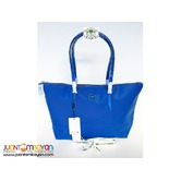 LACOSTE SHOULDER BAG - LOACOSTE TOTE BAG - ROYAL BLUE