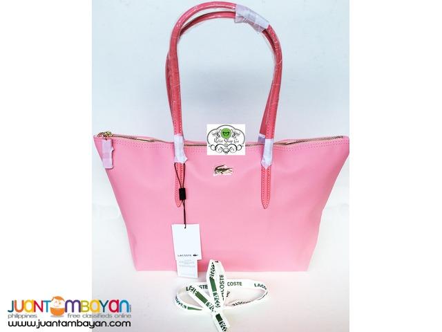 Lacoste Shoulder Bag Tote Pink