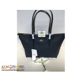 LACOSTE SHOULDER BAG - LACOSTE TOTE BAG - NAVY BLUE