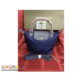 LONGCHAMP 4A NEO SMALL SHORT HANDLE NAVY
