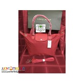 LONGCHAMP NEO MEDIUM LONG HANDLE (RED)