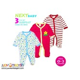 BABY FROG SUIT - BABY SLEEP SUIT SET OF 3