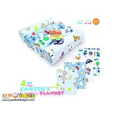 CARTER FLANNEL BABY BLANKET 4 PC SET