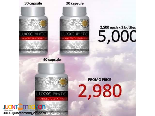 LUXXE WHITE 60CAPSULES FREE SHIPPING NATIONWIDE!
