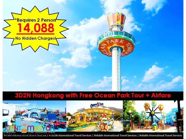 3D2N Hongkong with Free Ocean Park + Airfare