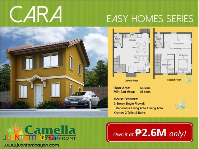 most affordable single 3br house pit os cebu city cara camella