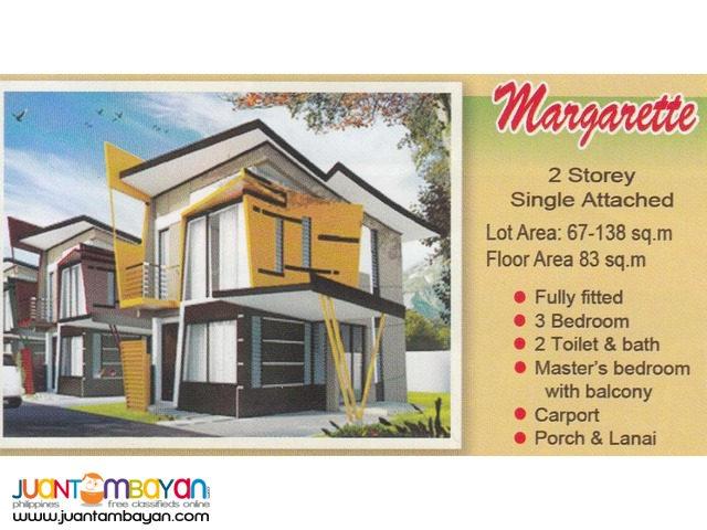 MARGARETTE single attached house near sm liloan cebu eastland