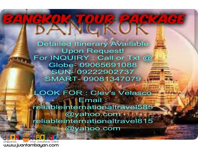 3d2n Bangkok with City Tour + Airfare