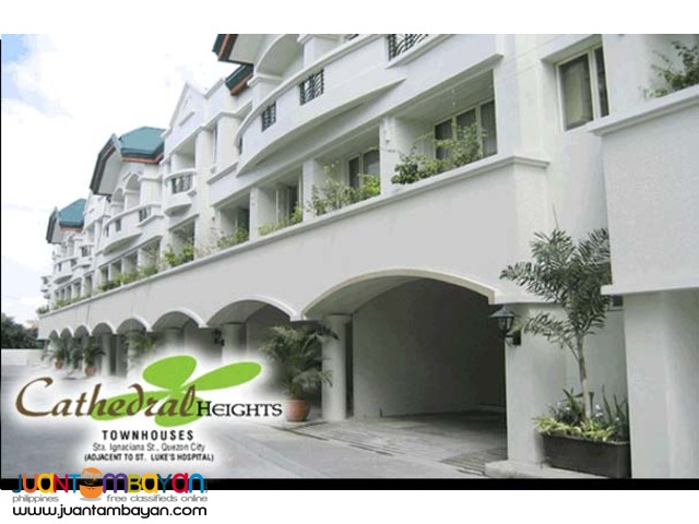 2 bedroom townhouse for sale in Quezon City near St.Lukes Hospit