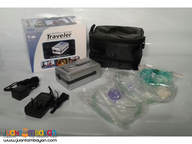 DEVILBISS RECHARGEABLE TRAVELER PORTABLE COMPRESSOR NEBULIZER