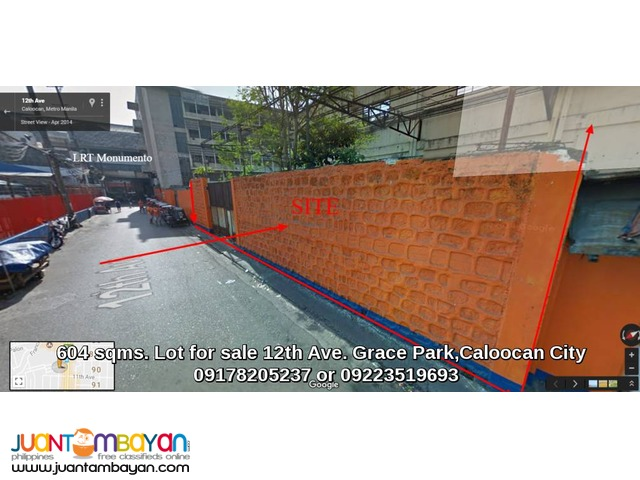 Caloocan City Commercial Industrial Lot For Sale Near