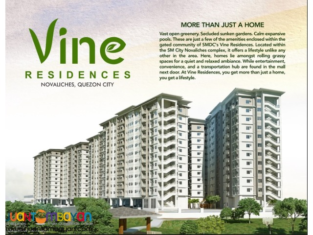VINE Residences @ SM Novaliches 2 Bedroom Units - only 7,030/month