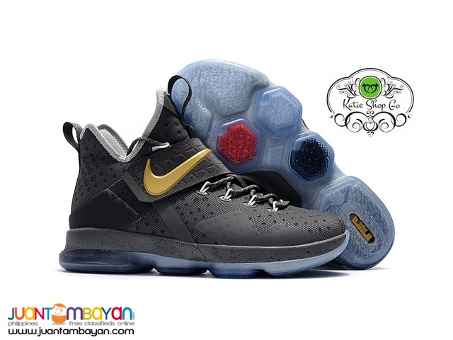 3bb1dc9f88ad Nike LeBron 14 Basketball Shoes - Cement Gray Taytay