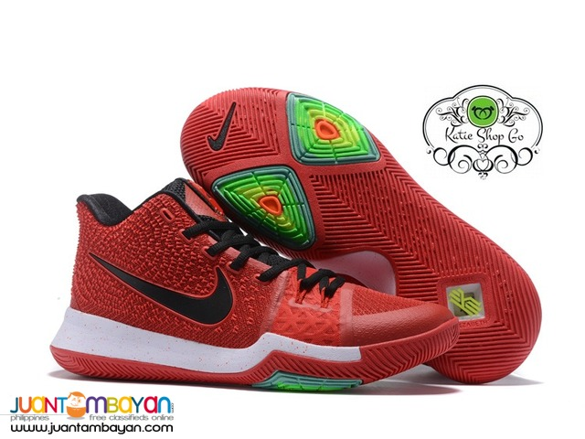 buy popular a05eb 3c370 Nike Kyrie 3 MENS Basketball Shoes - Red Black