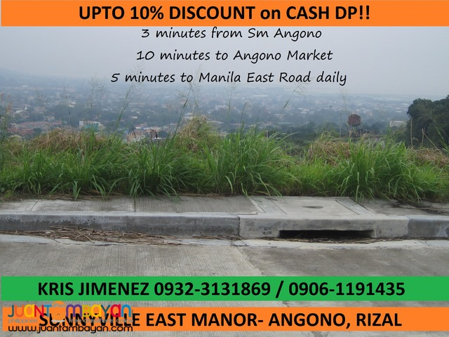 ANGONO RIZAL RESIDENTIAL LOT at SUNNYVILLE EAST MANOR