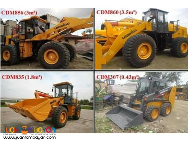 Lonking Payloader Wheel loader 1cbm to 3.5cbm