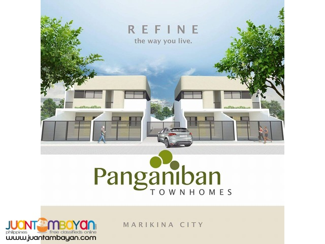 FOR SALE THREE BEDROOM TOWNHOUSE AT MARIKINA CITY