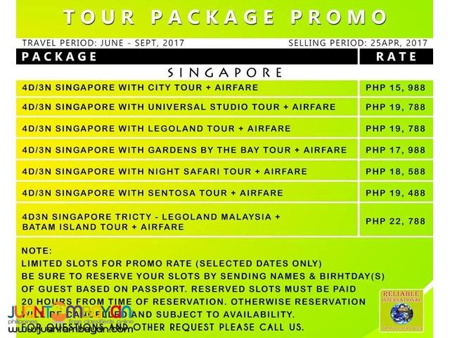 Singapore Promo Tour with Airfare