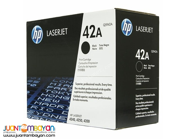 Available Brand New HP Toner Laserjet Cartridge Q5942A