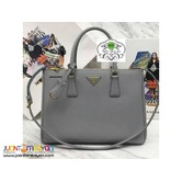 PRADA SAFFIANO TOTE BAG - PRADA BAG WITH SLING - Grey