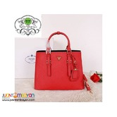 PRADA SAFFIANO TOTE BAG - PRADA BAG WITH SLING - red