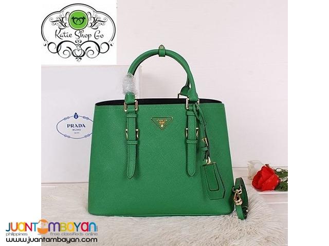 PRADA SAFFIANO TOTE BAG - PRADA BAG WITH SLING - green Taytay a1430a08e5da0