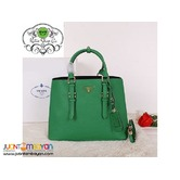 PRADA SAFFIANO TOTE BAG - PRADA BAG WITH SLING - green