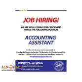 Hiring Accounting Assistants