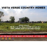 LOT in CAINTA VISTA VERDE COUNTRY HOMES upto 20%DISC
