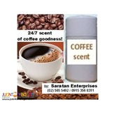 Coffee scent aerosol air-fresheners in canisters