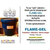 Flame gel or fire gel